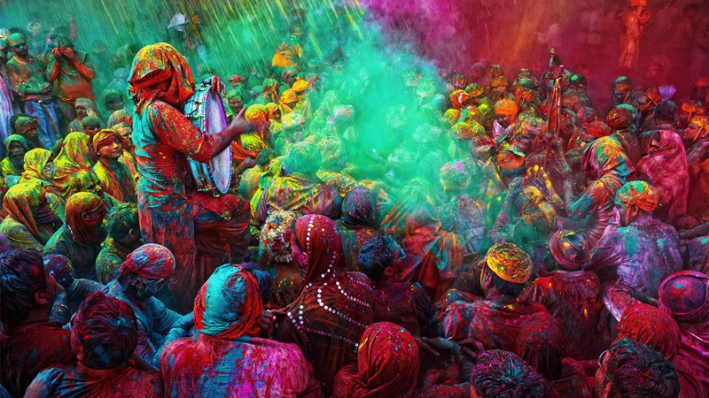 Holi in Band Baretha
